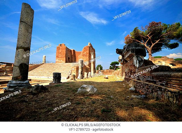 Archaeological area of Ostia Antica, Roma district, Lazio Italy