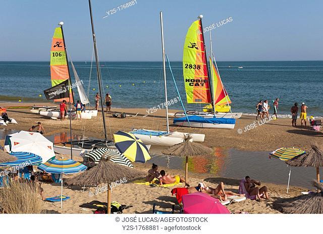 Central beach, Isla Cristina, Huelva-province, Spain