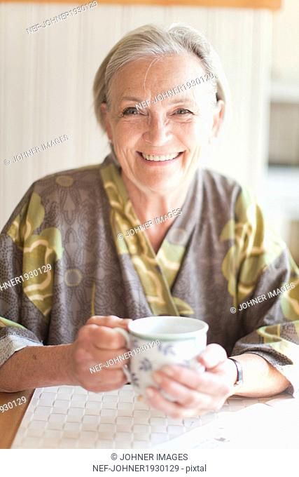 Senior woman in morning