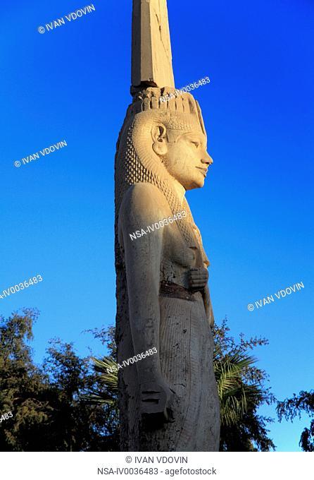 Statue of Meryetamun, daughter of Ramses II 13th century BC, Akhmin, near Sohag, Egypt