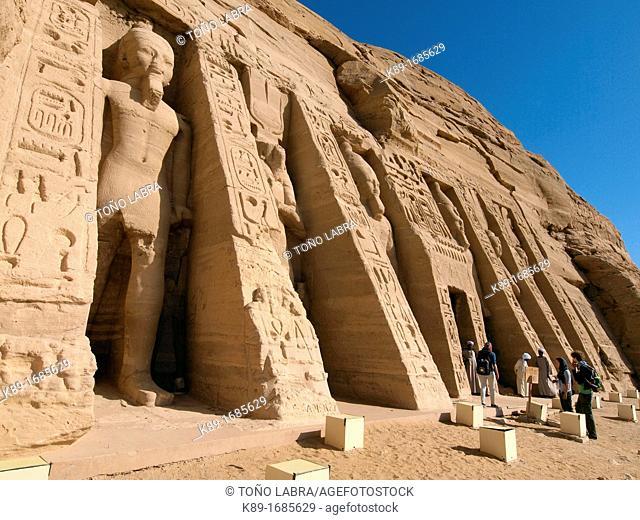 Abu Simbel temple of Hathor Nefertari Nasser Lake High Egypt
