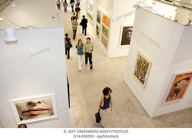 Florida, Miami, Midtown, Art Basel week, Art Miami, exhibit, gallery, galleries, collector, shopping, modern, contemporary, art show, culture, man, woman
