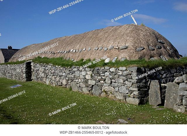 Old thatched Blackhouse No 42 Arnol Isle of Lewis Outer Hebrides