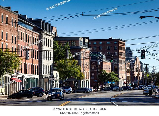 USA, Maine, Portland, buildings of the Old Port