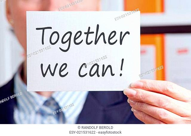 Together we can !