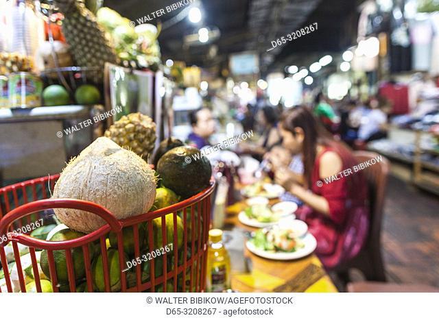 Cambodia, Phnom Penh, Russian Market, food vendor, NR