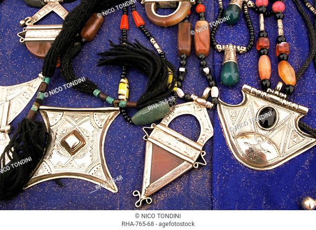 Jewellery, Gioielli Tuareg, Southwest desert, Libya, North Africa, Africa
