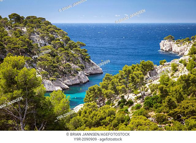 View over the Calanques near Cassis, Provence, France