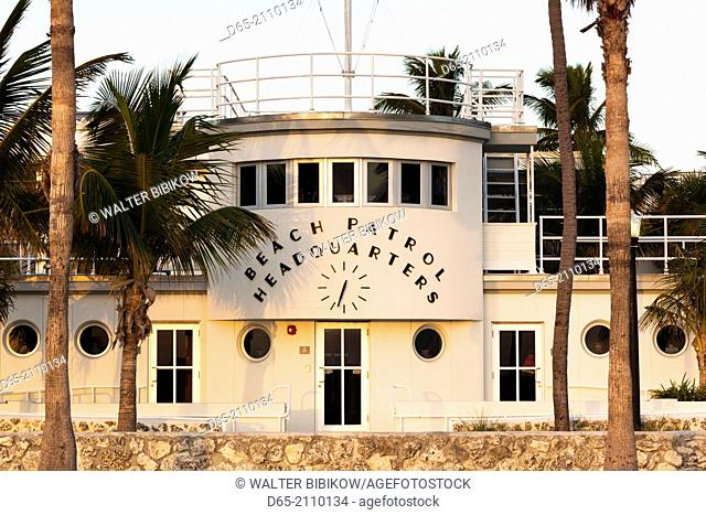 USA, Florida, Miami Beach, South Beach, art-deco, Beach Patrol Headquarters building