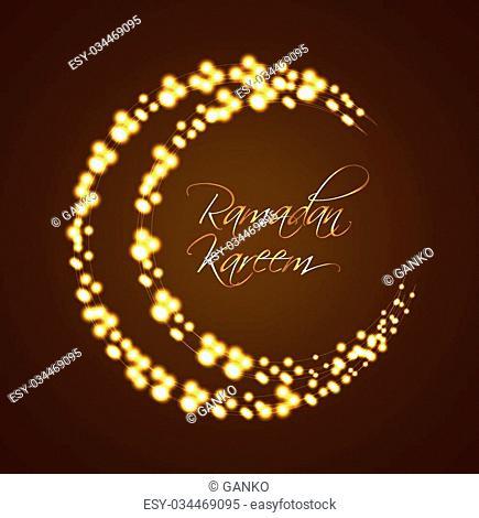 Ramadan Kareem Background Design. Vector Illustration EPS10