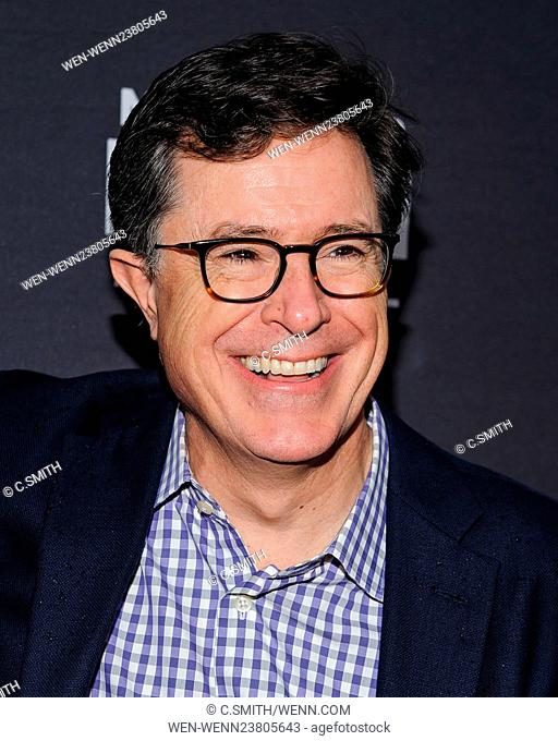 'Life, Animated' opening night screening and Q&A during the 5th Annual Montclair Film Festival at The Wellmont Theatre Featuring: Stephen Colbert Where:...