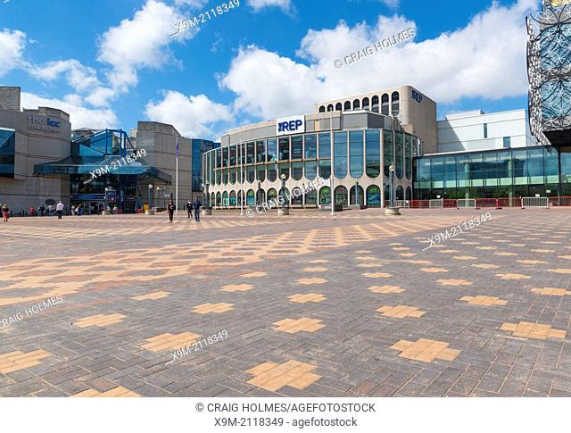 The REP theatre in Centenary Square, Birmingham, West Midlands, England, UK
