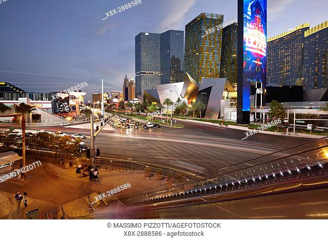 Las Vegas Boulevard at night, Nevada, United States