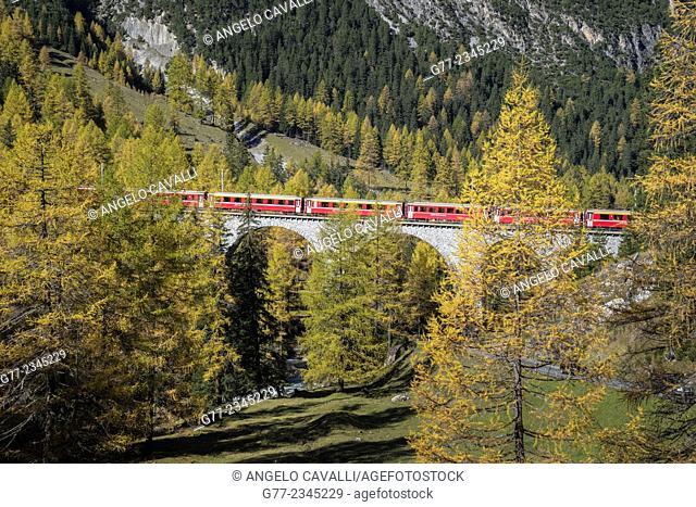 Bernina Express Train, Canton of Graubünden, Switzerland