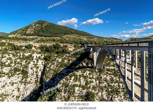Grand Canyon du Verdon, George du Verdon, Pont de la Artuby,Pont de l'Artuby, Provence-Alpes-Cote d'Azur, France