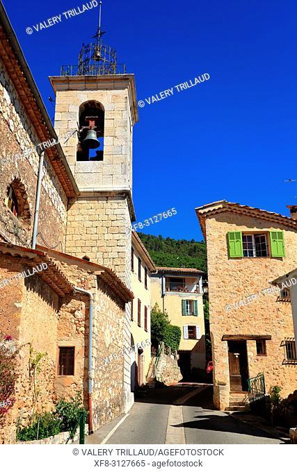Village de Speracedes, Arriere pays Grassois, 06, Alpes-Maritimes, PACA,