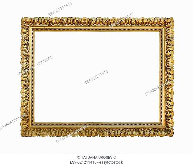 Gold aged frame