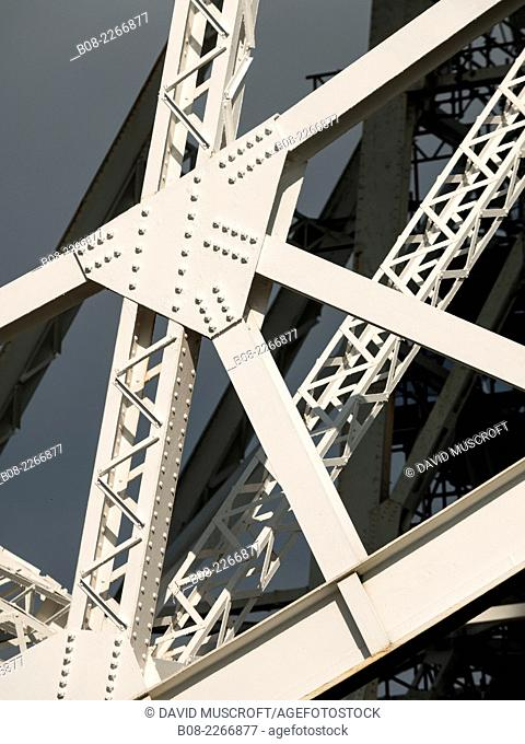Girder framework supporting the Lovell Telescope at Jodrell Bank Observatory,Cheshire, UK