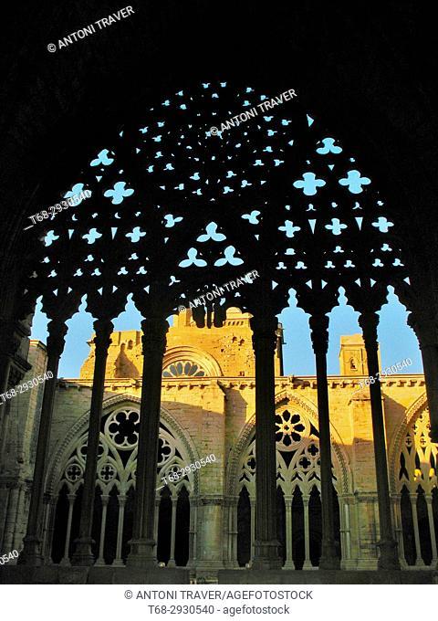 Cloister, Old Cathedral of Lleida (La Seu Vella), Lleida, Spain