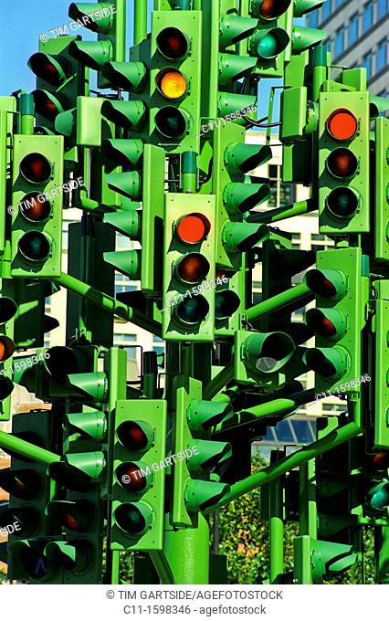 traffic lights abstract sculpture