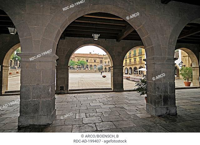 Poble Espanyol de Montjuic, Plaza Mayor, Barcelona, Catalonia, Spain, Spanish village