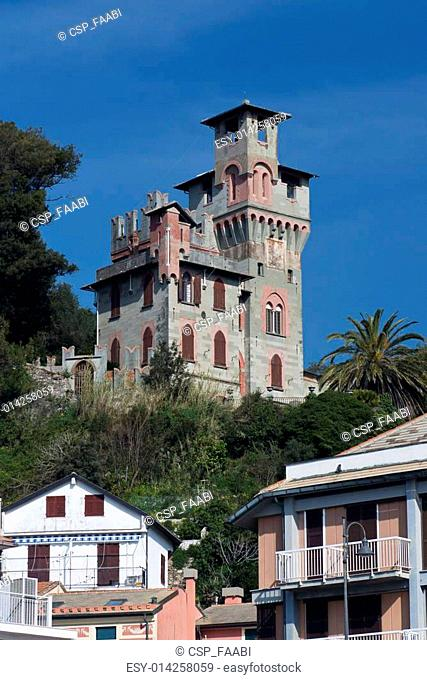 House with Tower in Moneglia
