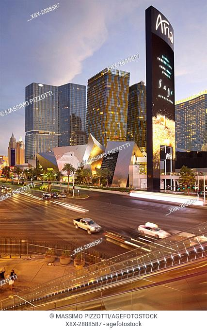 Las Vegas Boulevard at night, Nevada, United States