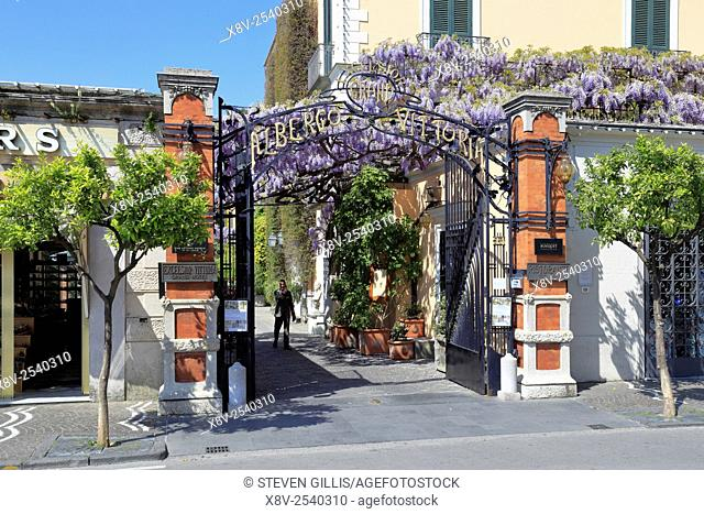 Entrance to the Grand Hotel Excelsior Vittoria, Sorrento, Italy