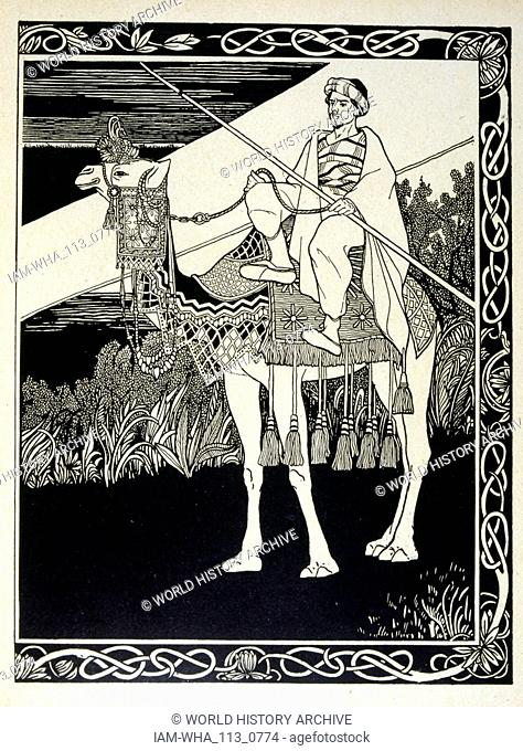 Enak before Gemorrhe (Gomorrah), from the book Judah illustrated by Ephraim Moses Lilien (1874-1925). Lilian is considered as the father of Zionist iconography
