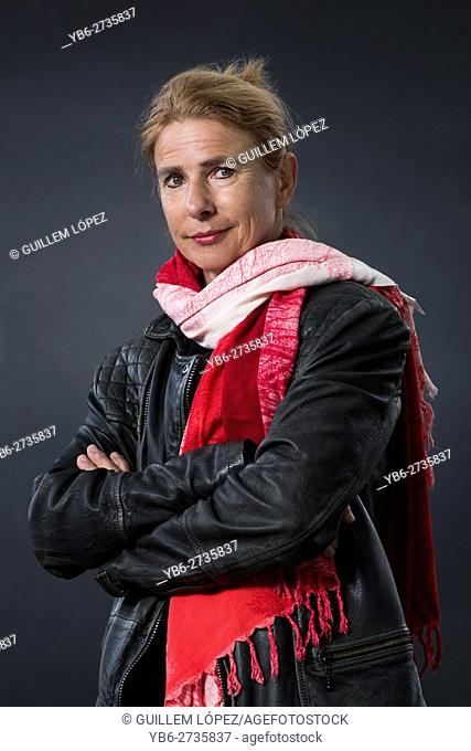 EDINBURGH, SCOTLAND, Saturday 20th, AUGUST 2016: American journalist and author Lionel Shriver appears at the Edinburgh International Book Festival