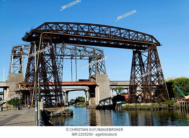 Old bridge of La Boca district, Buenos Aires, Argentina, South America