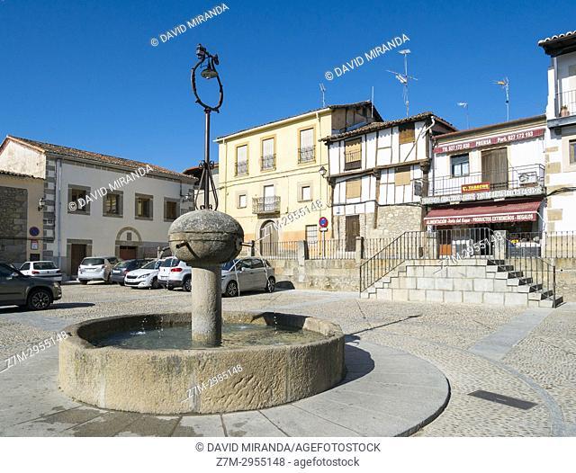 Plaza Mayor. Cuacos de Yuste. Cáceres. Extremadura. Spain