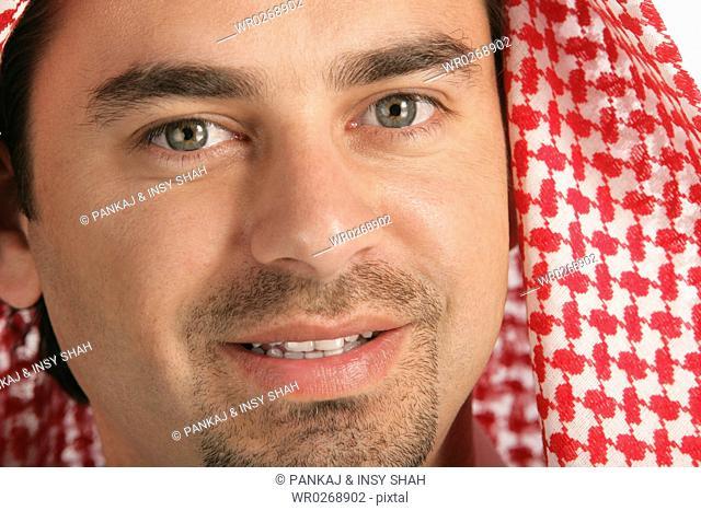 Arab man looking at the camera
