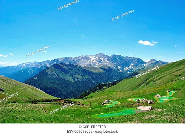 valley overlooking