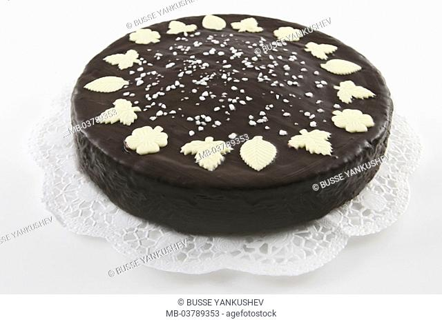 Chocolate pie   Sachertorte, pie, chocolate cake, cakes, Schokoguss, chocolate coating, chocolate glaze, decoration, chocolate small abandoned, pastries