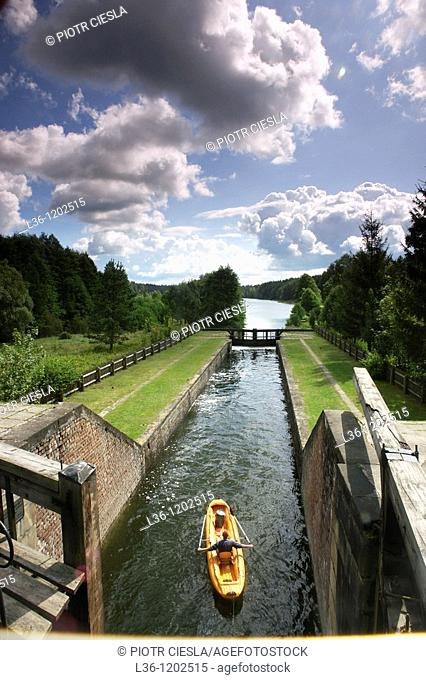 Augustowski Canal (Kanal Augustowski) from the begining of the XIX century. Suwalski region. North-eastern Poland