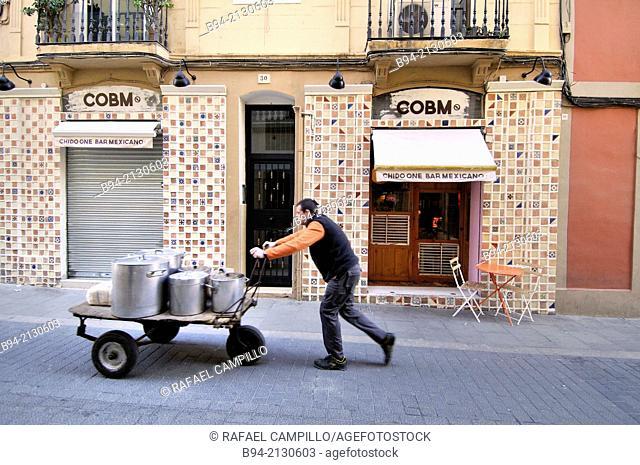 Gracia neigborhood, Barcelona, Catalonia, Spain