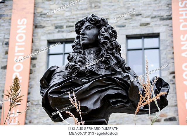 Monument of Louis XIV on Place Royale in Québec City