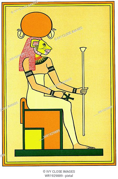 In Egyptian mythology, Tefnut was the goddess of mositure and the sister and wife of Shu, the god of the atmosphere (air)