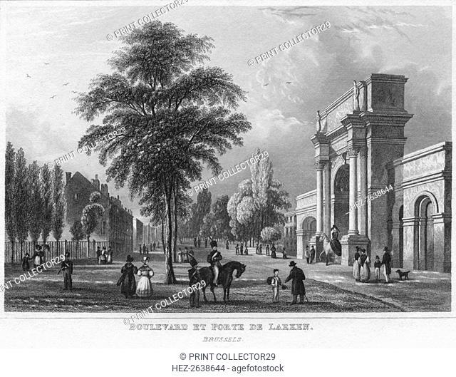 'Boulevard Et Porte De Laeken. Brussels', 1850. Artist: Archelaus Cruse