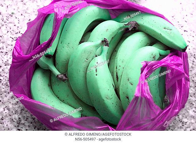 Bananas in a bag