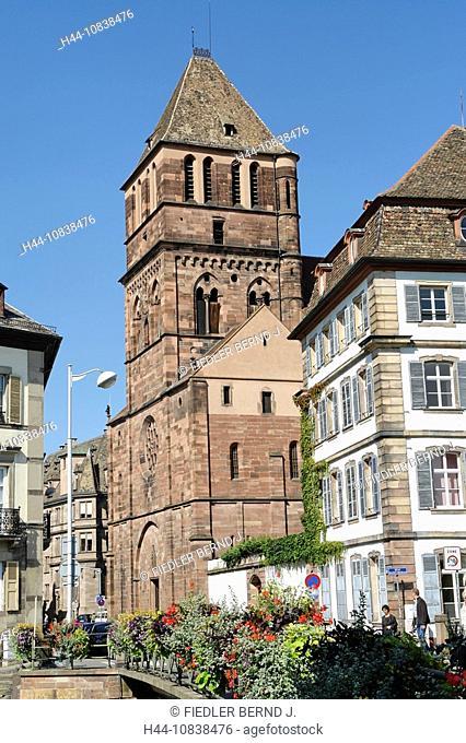 France, Europe, Bas-Rhin, Alsace, Strasbourg, Strassburg, church Saint Thomas, Eglise Saint-Thomas, Rue Martin Luther
