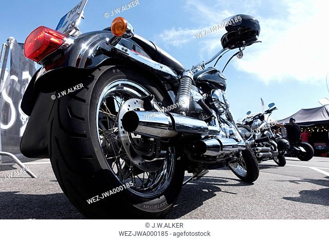 Exhaust system of a Harley Davidson