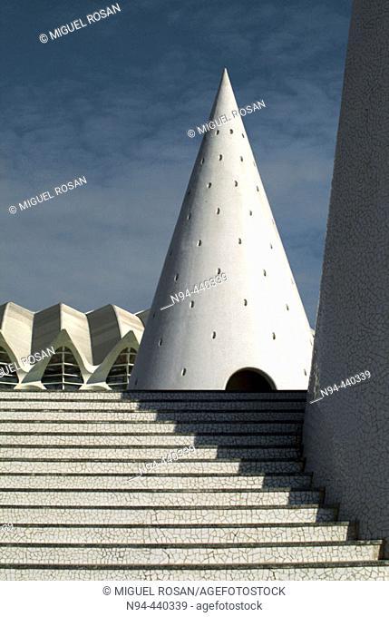 City of Arts and Sciences, by S. Calatrava. Valencia. Spain