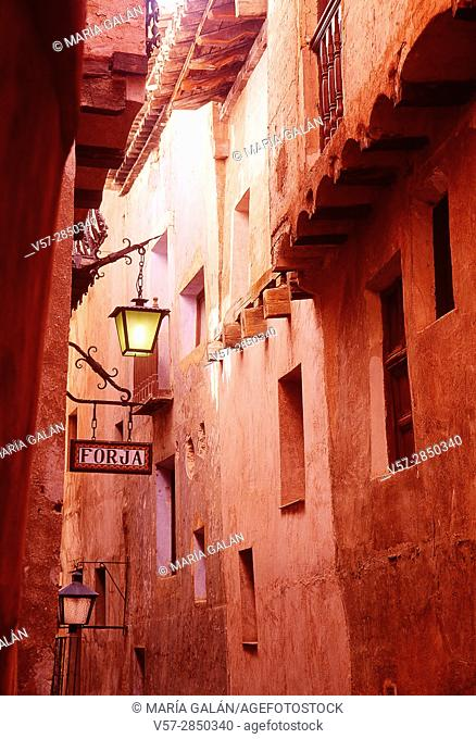 Street. Albarracin, Teruel province, Aragon, Spain