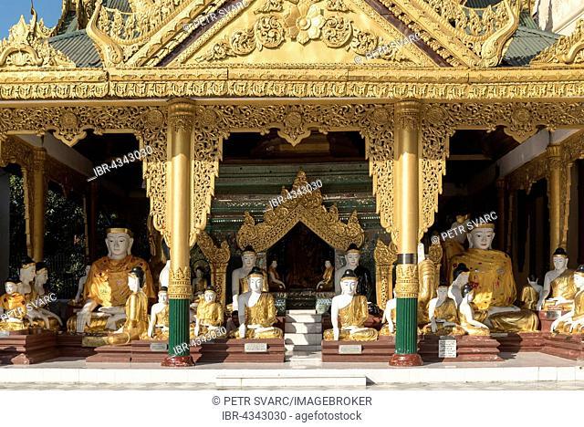 Koo Chein Kan and Ma Kyee Kyee Hall, Shwedagon Pagoda, Yangon, Rangoon, Myanmar, Burma