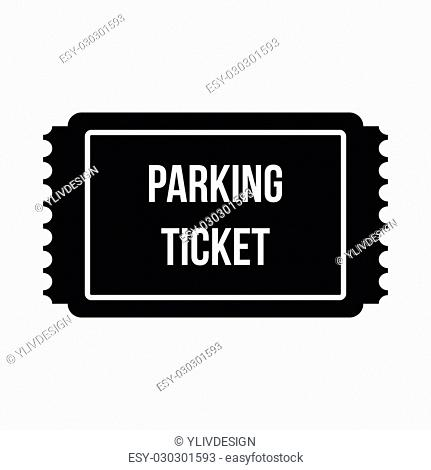Parking ticket icon in simple style isolated on white background