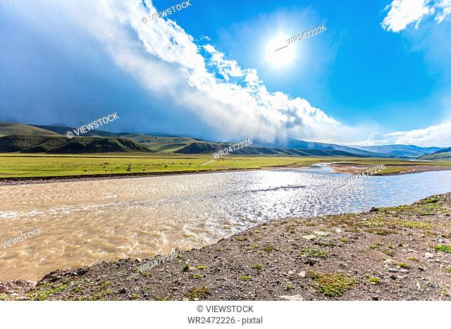 Distance from the north sea in qinghai Tibetan autonomous prefecture chase river