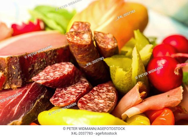 food cold cut platter bacon