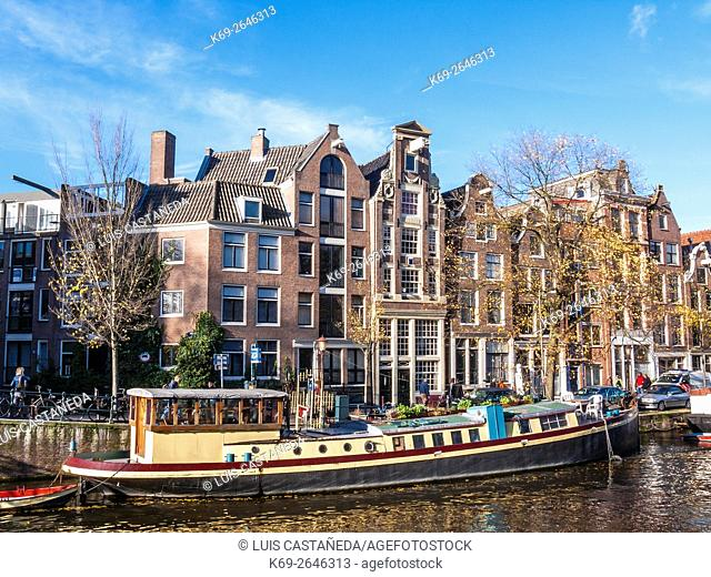Prinsengracht Canal. Amsterdam
